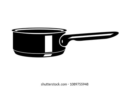 Frying hot saucepan cook pan icons. Simple illustration of frying hot saucepan cook pan vector icon for web