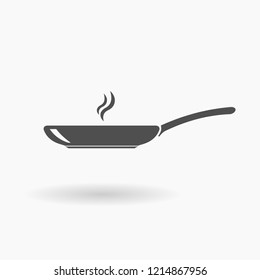 Frying Pan Icon Illustration silhouette.