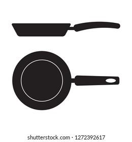 Frying pan vector icon