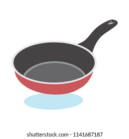 Frying Pan Vector Icon Isolated on White Background