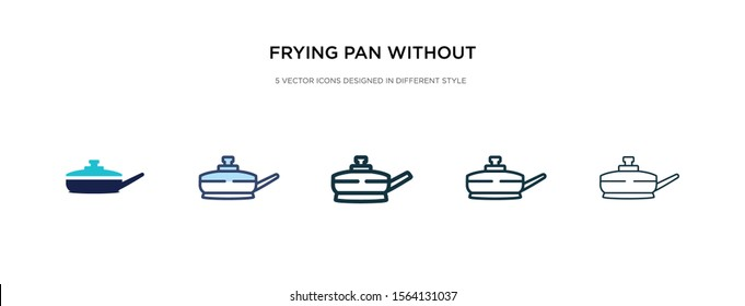 frying pan without a cover icon in different style vector illustration. two colored and black frying pan without a cover vector icons designed in filled, outline, line and stroke style can be used