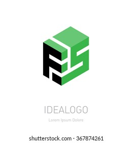 FS initial logo. FS initial monogram logotype. F5 Vector design element or icon.