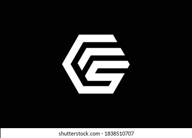 FS letter logo design on luxury background. SF monogram initials letter logo concept. FS icon design. SF elegant and Professional letter icon design on black background. F S SF FS