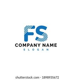 FS Letter Logo Design. FS letter logo Vector Illustration - Vector