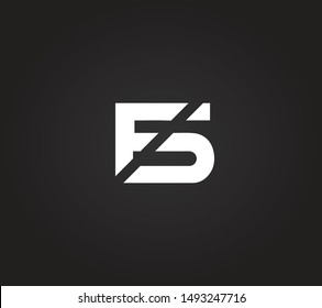 FS or SF or F or S abstract monogram letter mark logo vector template