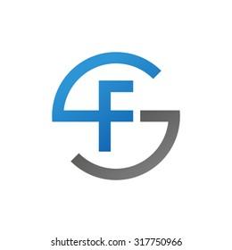 FS SF initial company circle S logo blue
