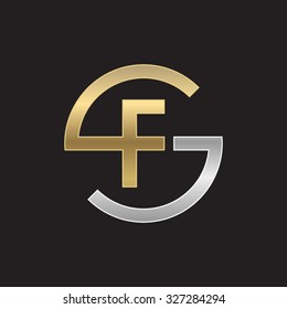 FS or SF letters, golden silver circle S shape