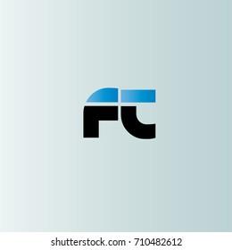 Ft Initial Letter Linked Lowercase Monogram Logo