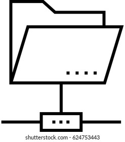 FTP Access Vector Icon