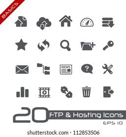 FTP & Hosting Icons // Basics