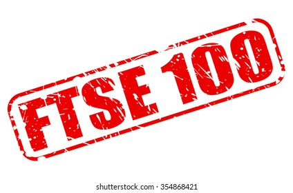 FTSE 100 red stamp text on white