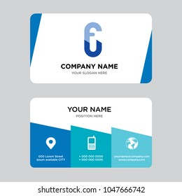 FU Or UF Business Card Design Template Visiting For Your Company Modern Creative And
