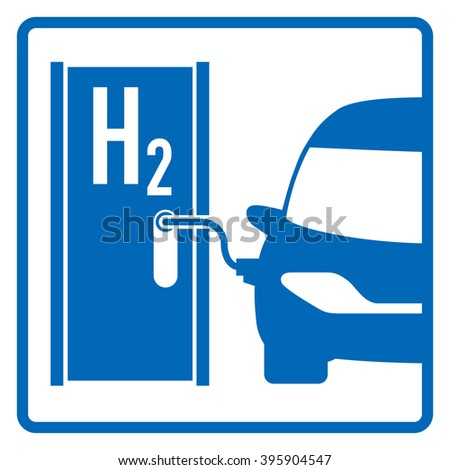 Fuel Cell Vehicle Hydrogen Filling Station Stock Vector Royalty