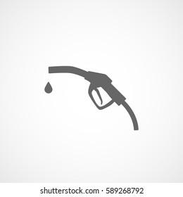 Fuel Dispenser Flat Icon On White Background