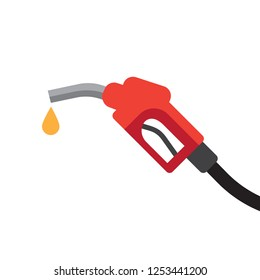 Fuel dispenser in simple flat style. Vector illustration isolated on white background.
