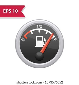 Fuel Gage Icon. Professional, pixel-aligned icon in realistic colors.