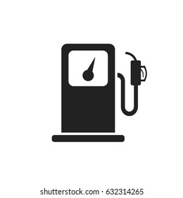 Fuel gas station icon. Car petrol pump flat illustration.