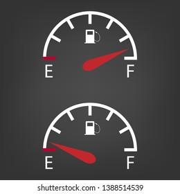 Fuel gauge icon .Gasoline dashboard.Vector illustration.