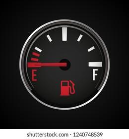 Fuel gauge icon. Gasoline indicator. Vector illustration.