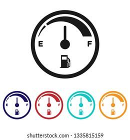 Fuel gauge icon.Fuel indicator vector sign.Fuel consumption symbol