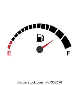 fuel gauge indicator