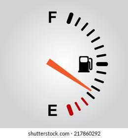 Fuel gauge on gray background. eps10