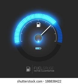 A fuel gauge, speedometer vector illustration