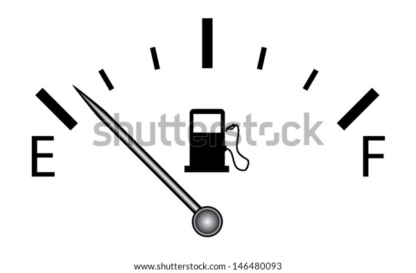 Fuel Gauge Vector Isolated Vector On Stock Vector (Royalty