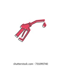 Fuel gun icon. Doodle illustration of Fuel gun vector icon for web isolated on white background