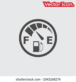 Fuel icon isolated sign symbol and flat style for app, web and digital design. Vector illustration.