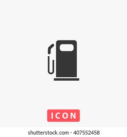 Fuel Icon Vector. Simple flat symbol. Perfect Black pictogram illustration on white background.