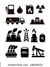 fuel icons over white background vector illustration
