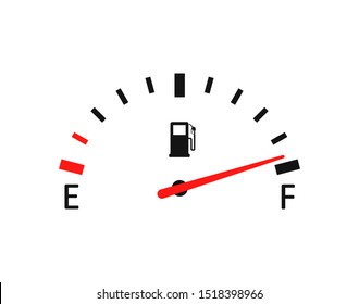 Fuel indicator vector icon vector illustration