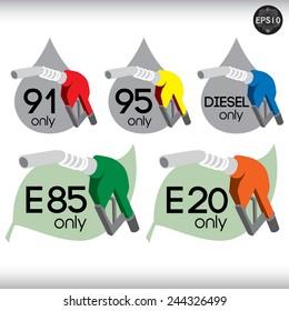 Fuel nozzle icon. Vector, EPS10