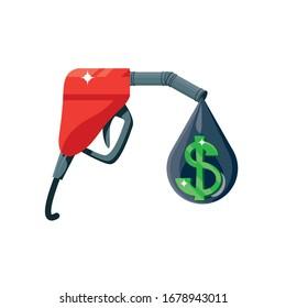fuel nozzle on white background vector illustration design