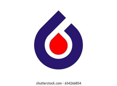 Fuel Oil Flame Logo Vector
