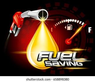 Fuel pump with drop oil, Fuel saving concept.