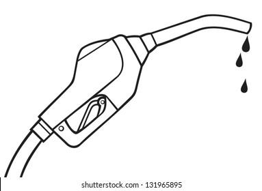 fuel pump hose vector