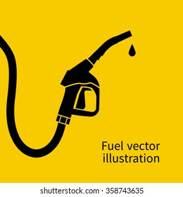 Fuel pump icon. Petrol station sign. Gas station sign. Gasoline pump nozzle. Fuel background. Vector illustration. Gasoline pump with drop.