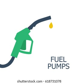 Fuel pump icon. Petrol station sign. Fuel background. Vector illustration,