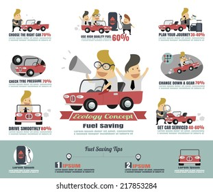 Fuel saving infographics