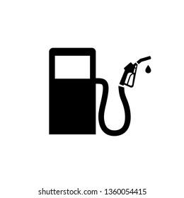 Fuel station pump icon logo