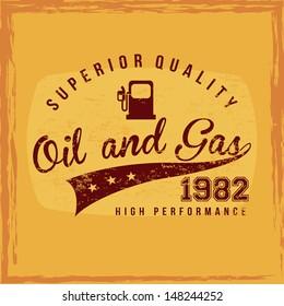 fuel superior quality over orange background vector illustration
