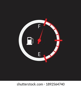 Fuel tank indicator. vector illustration