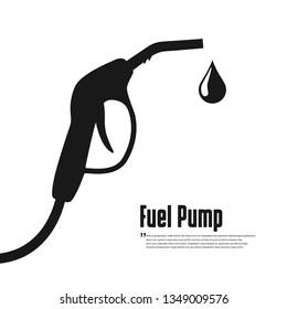 Fuel vector icon. Black icon on white background