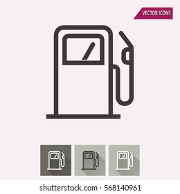 Fuel vector icon. Illustration isolated for graphic and web design.