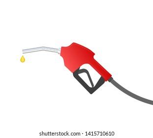 Fueling gasoline or diesel vector web banner. Filling stations network, petroleum. Vector stock illustration.