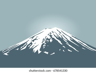 Fuji mountain, symbol of Japan and asia traveling for vector design and background