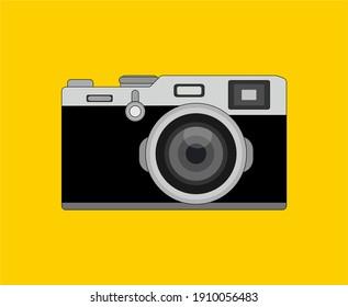 fujifilm analog camera vector with flat design
