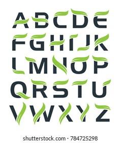 Full Alphabet logo with leaf element